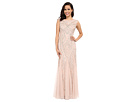Long Beaded Gown w/ Godets