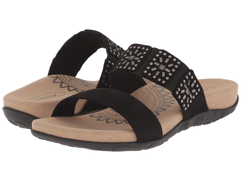 Aetrex - Macy (Black) Women's Sandals