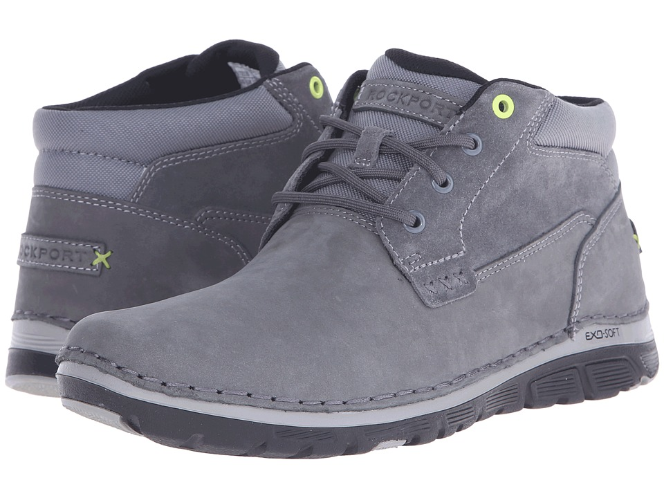 Rockport - Zonecrush Rocsport Lite Plain Toe Boot (Castlerock Grey) Men's Lace-up Boots