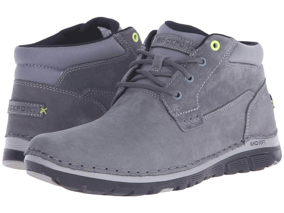 Rockport - Zonecrush Rocsport Lite Plain Toe Boot (Castlerock Grey) Men's Lace-up Boots