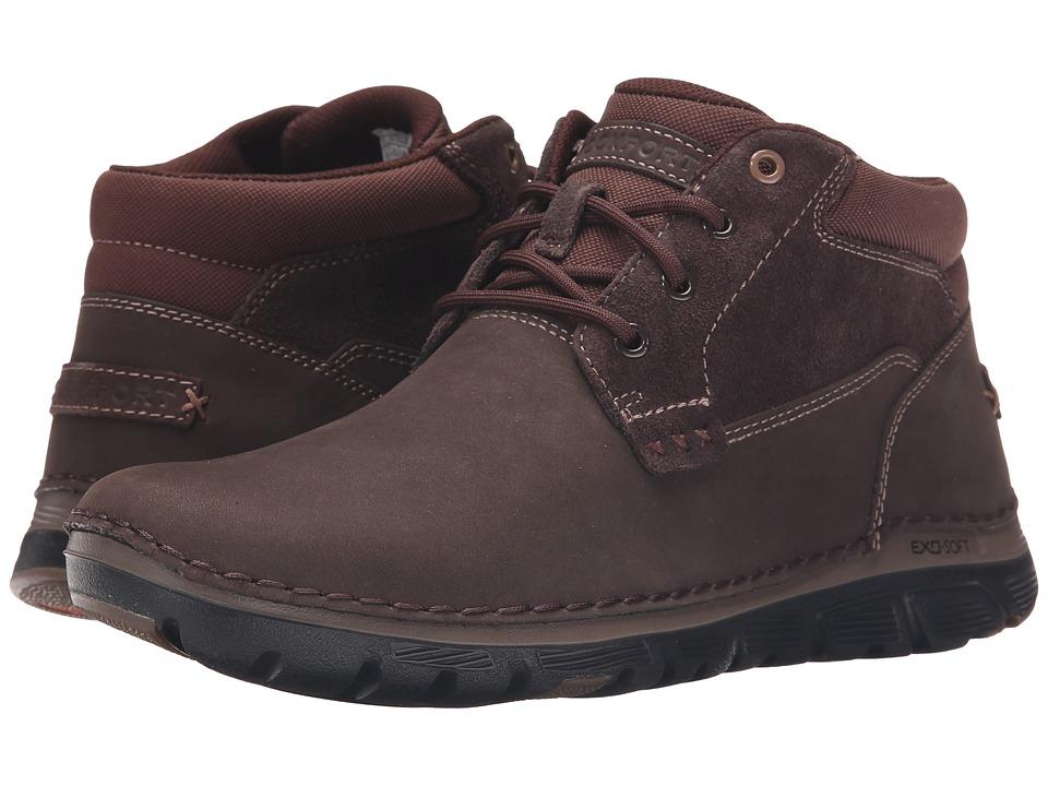 Rockport - Zonecrush Rocsport Lite Plain Toe Boot (Chocolate) Men's Lace-up Boots