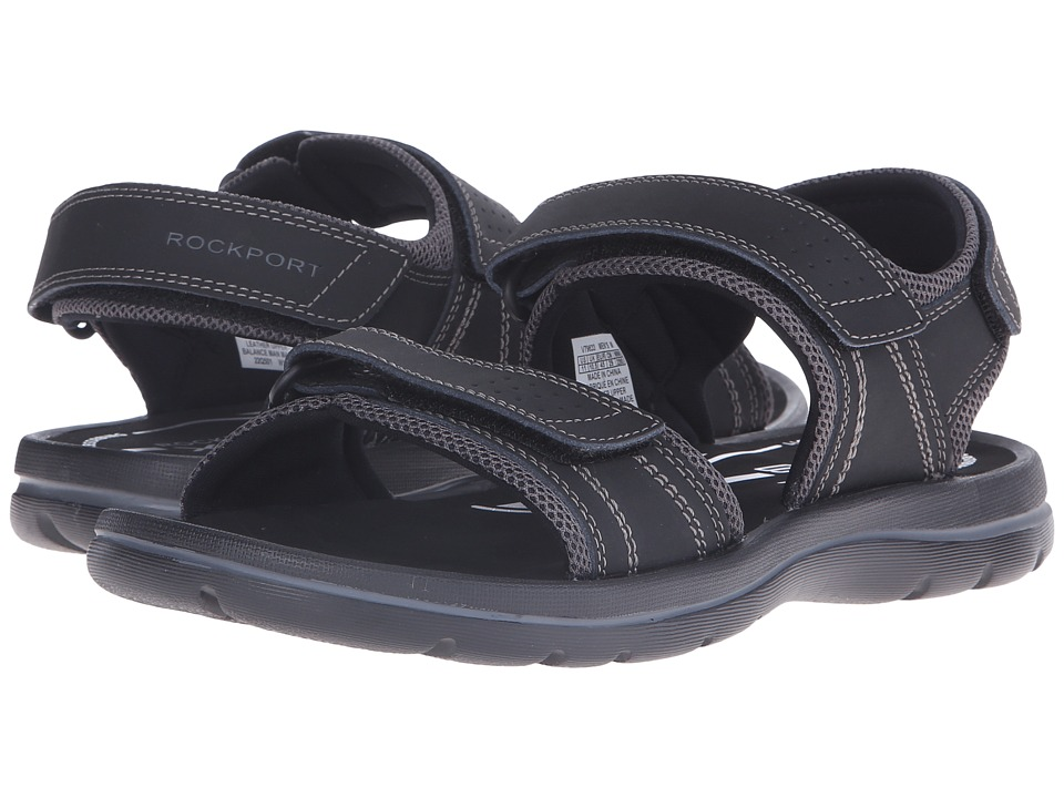 Rockport - Get Your Kicks Sandals QTR Strap (Black) Men's Sandals