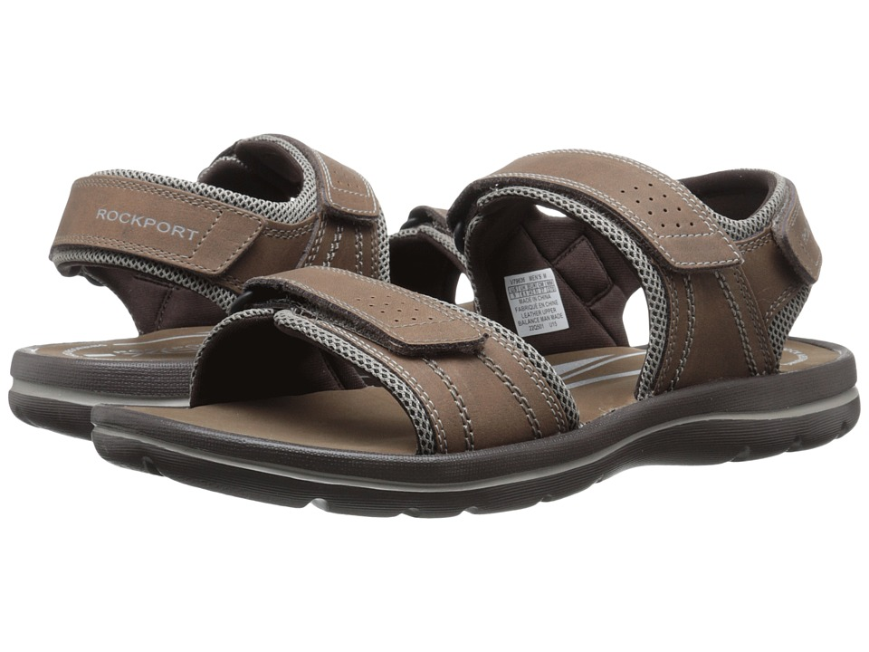 Rockport Get Your Kicks Sandals QTR Strap (Tan/Sand) Men