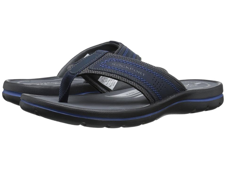 Rockport - Get Your Kicks Sandals Thong (Navy/Blue) Men's Sandals