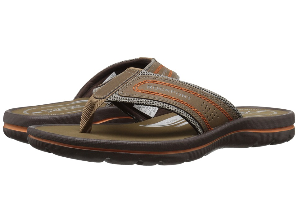 Rockport - Get Your Kicks Sandals Thong (Tan/Sand) Men's Sandals