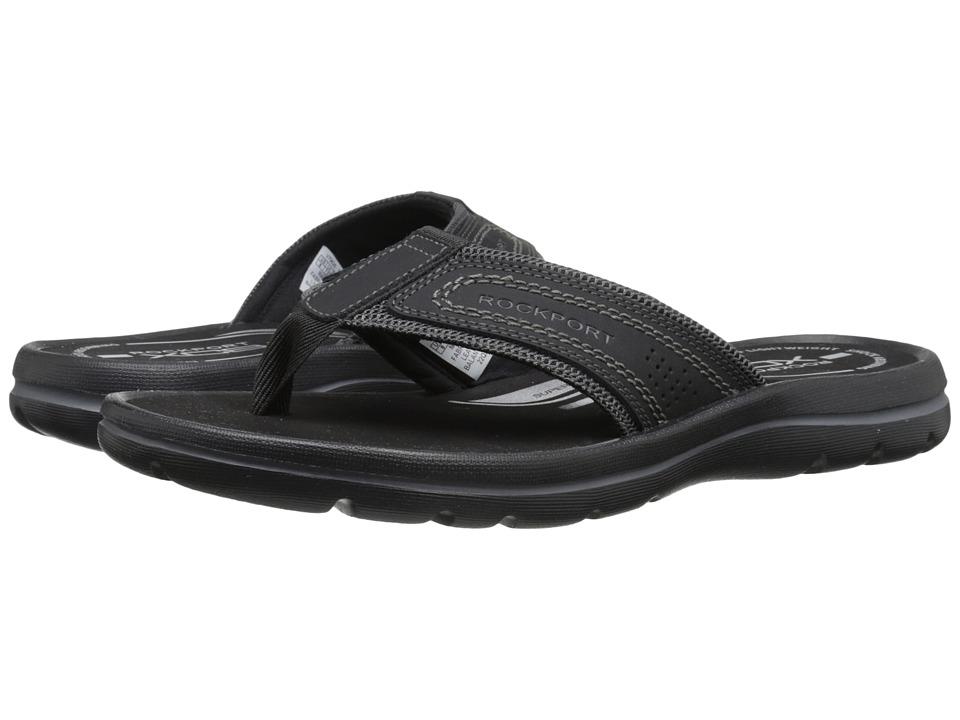 Rockport - Get Your Kicks Sandals Thong (Black/Grey) Men's Sandals