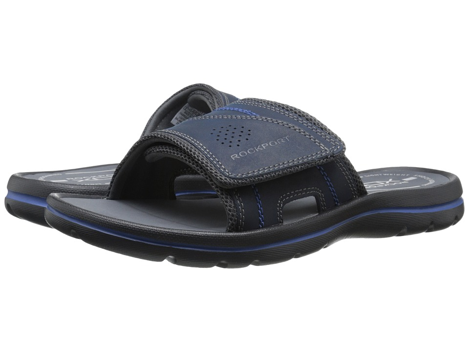 Rockport - Get Your Kicks Sandals Hook and Loop Slide (Navy/Blue) Men's Sandals