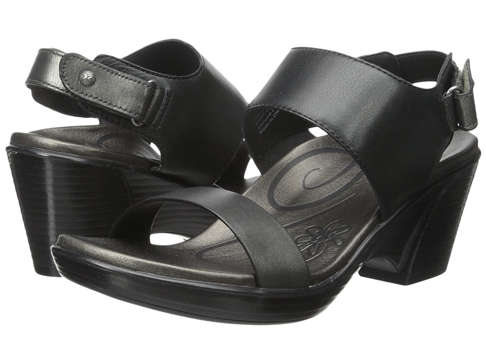 Aetrex Peyton Wedge Sandal (Black) Women