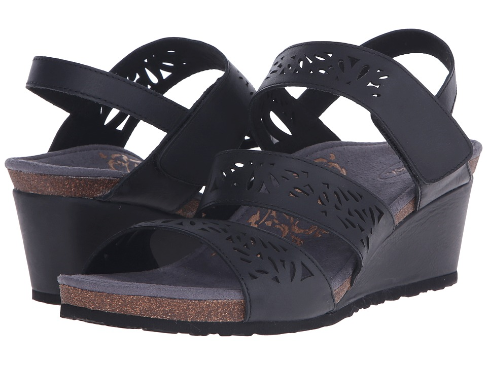 Aetrex - Lexi Wedge Sandal (Black) Women's Wedge Shoes