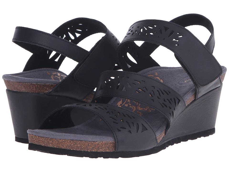 Aetrex - Lexi Wedge Sandal (Black) Women's Wedge Shoes