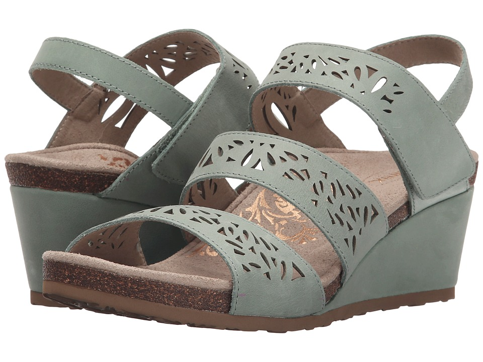 Aetrex Lexi Wedge Sandal (Mint) Women