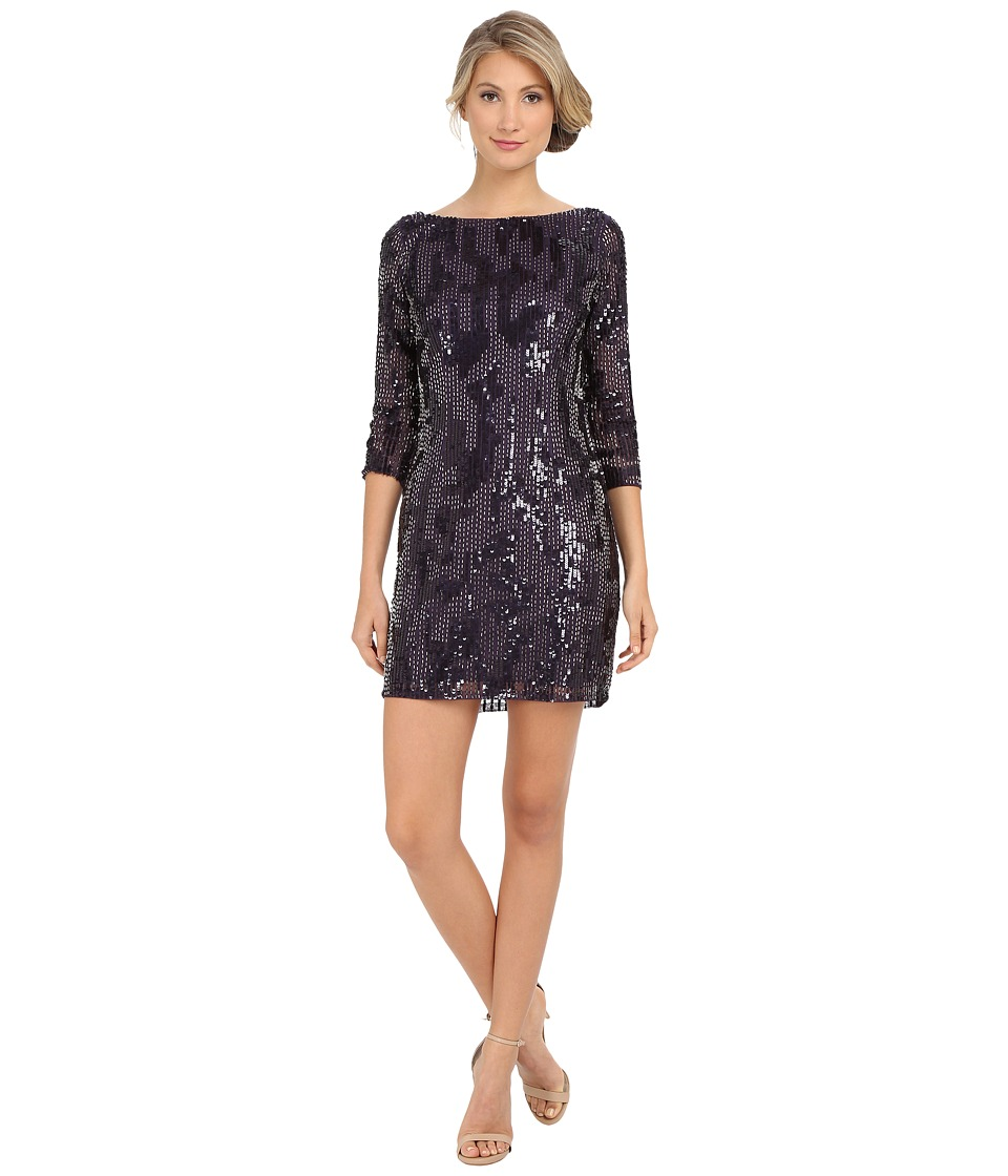 Adrianna Papell - Beaded Cocktail Dress (Prune) Women's Dress