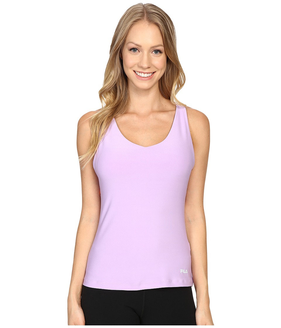 Fila - Do The Twist Tank Top (Lavender Field/Furo Coral) Women's Sleeveless