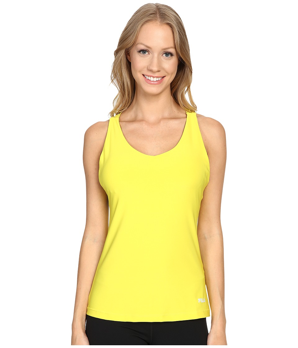 Fila - Do The Twist Tank Top (Lemon Tart/Violet Blue) Women's Sleeveless