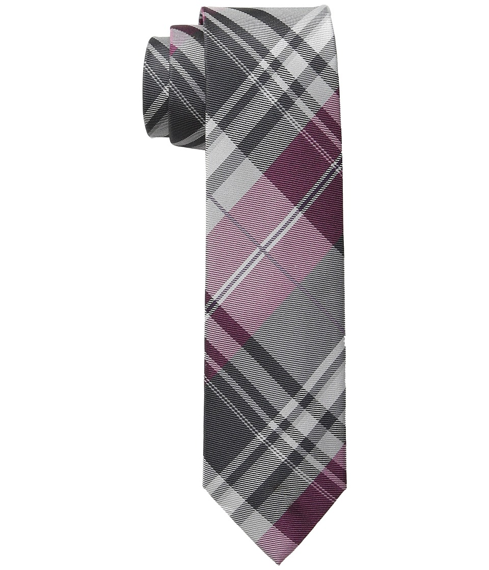 Kenneth Cole Reaction - Open Ground Plaid (Berry) Ties
