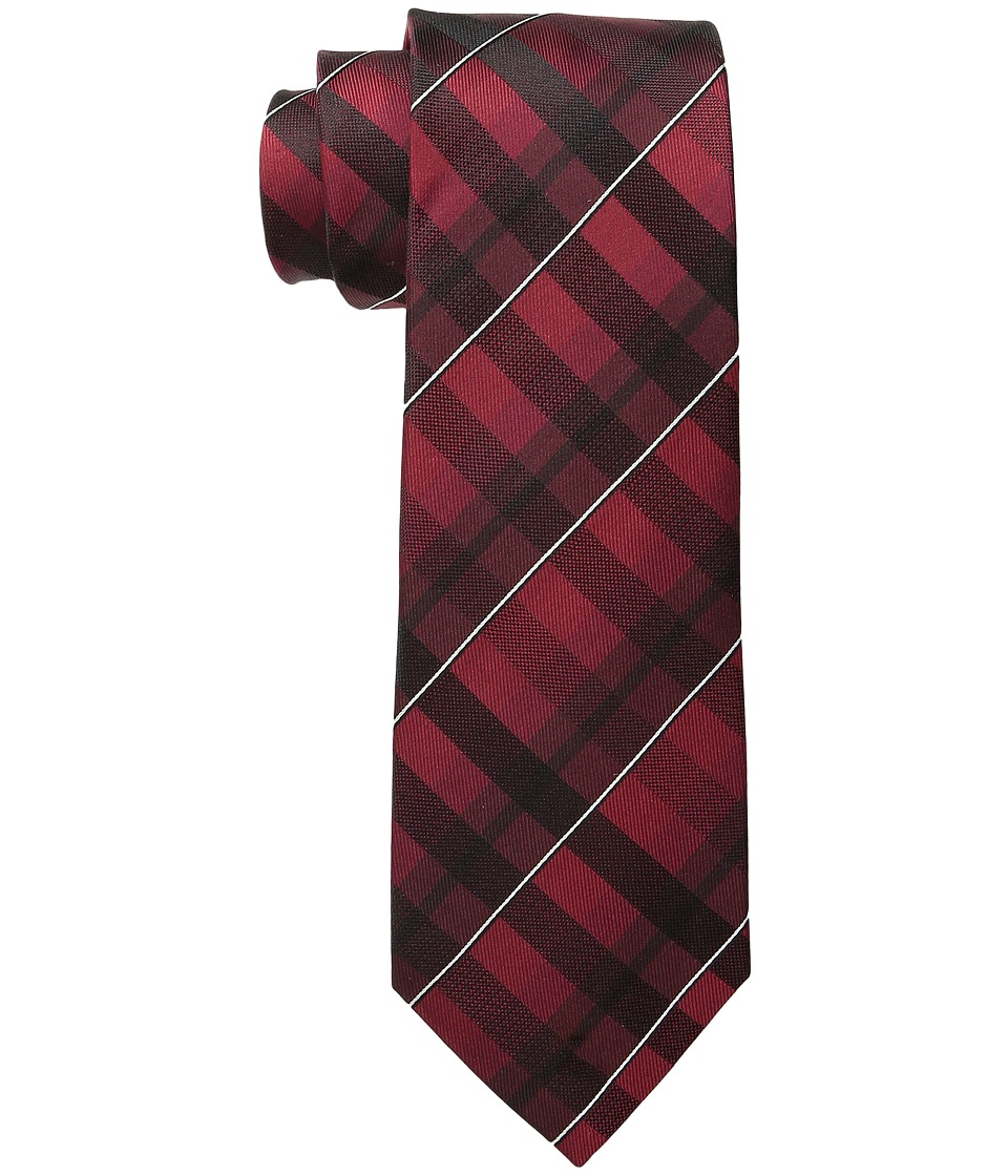 Kenneth Cole Reaction - Water Color Grid (Burgundy) Ties