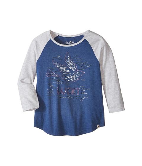 Lucky Brand Kids - Lucky Dove Tee (Big Kids) (Blue Indigo Heather) Girl's T Shirt