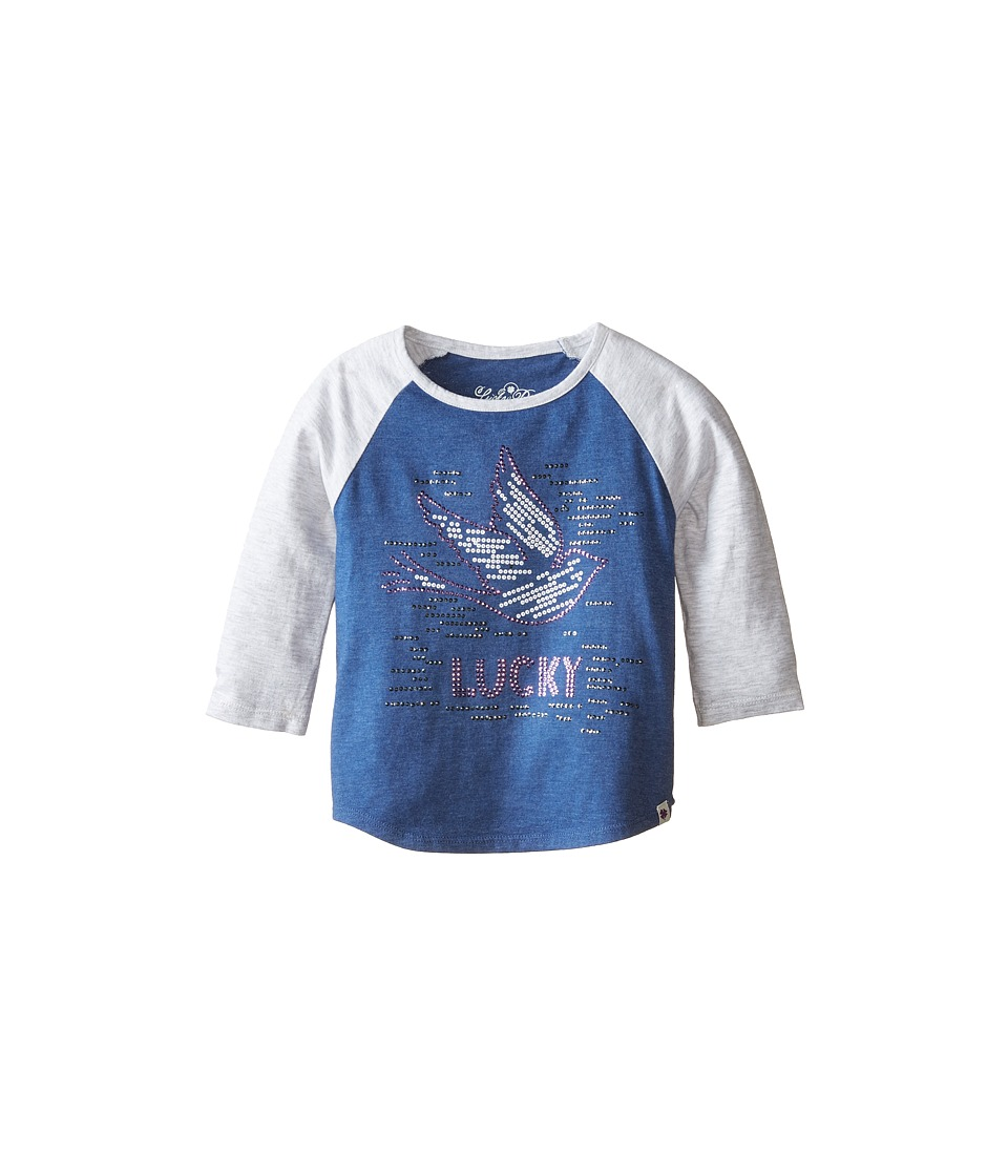 Lucky Brand Kids - Lucky Dove Tee (Little Kids) (Blue Indigo Heather) Girl's T Shirt
