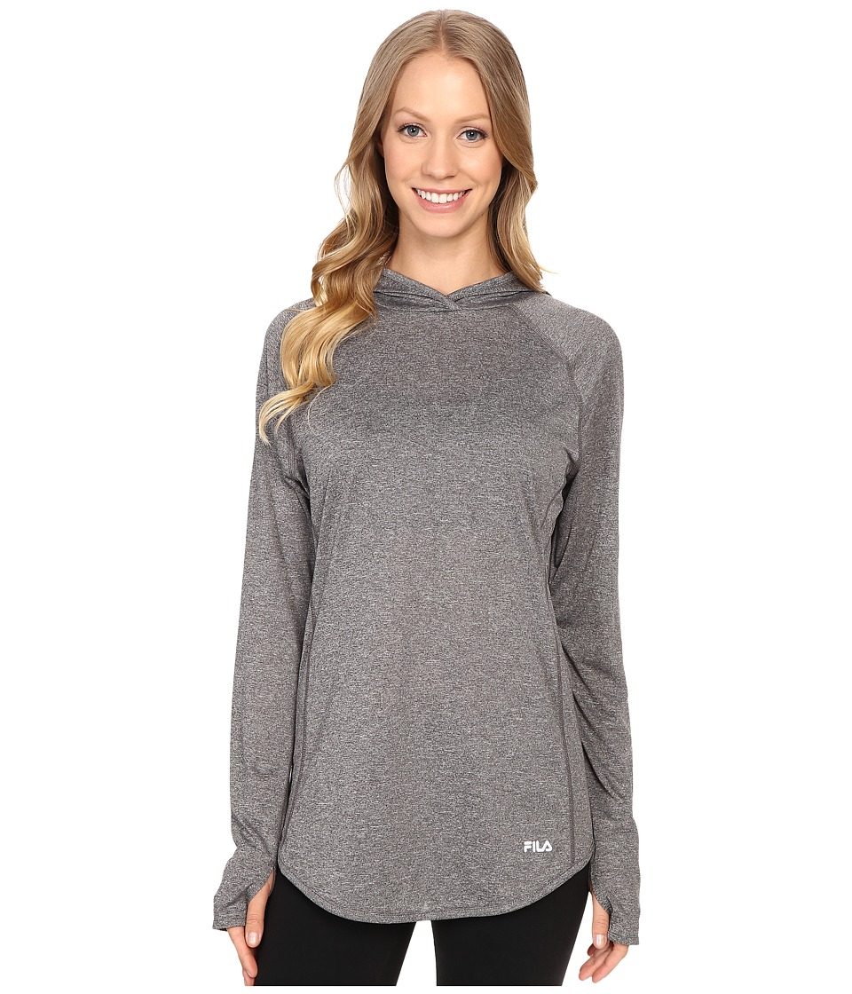 Fila - Pure Heather Hoodie (Varsity Heather/Ceramic Heather) Women's Long Sleeve Pullover