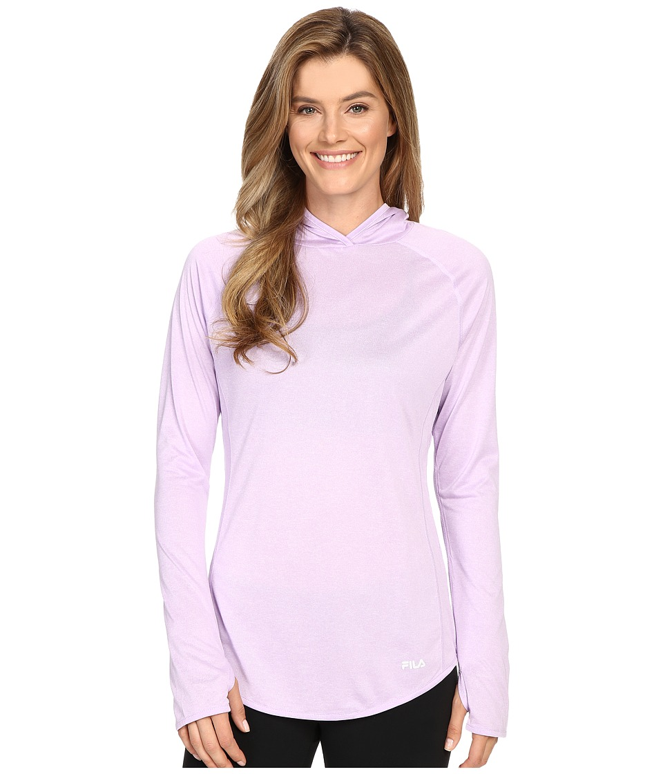 Fila - Pure Heather Hoodie (Lavender Field Heather/Black Heather) Women's Long Sleeve Pullover