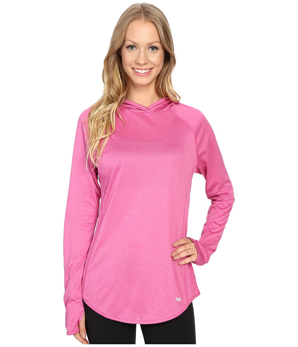 Fila - Pure Heather Hoodie (Pinky Daze Heather/Black Heather) Women's Long Sleeve Pullover