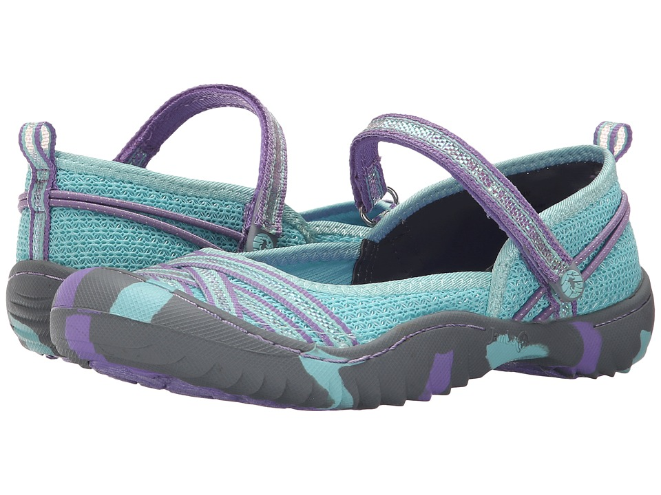 Jambu Kids - Fia 4 (Toddler/Little Kid/Big Kid) (Aqua/Purple) Girls Shoes