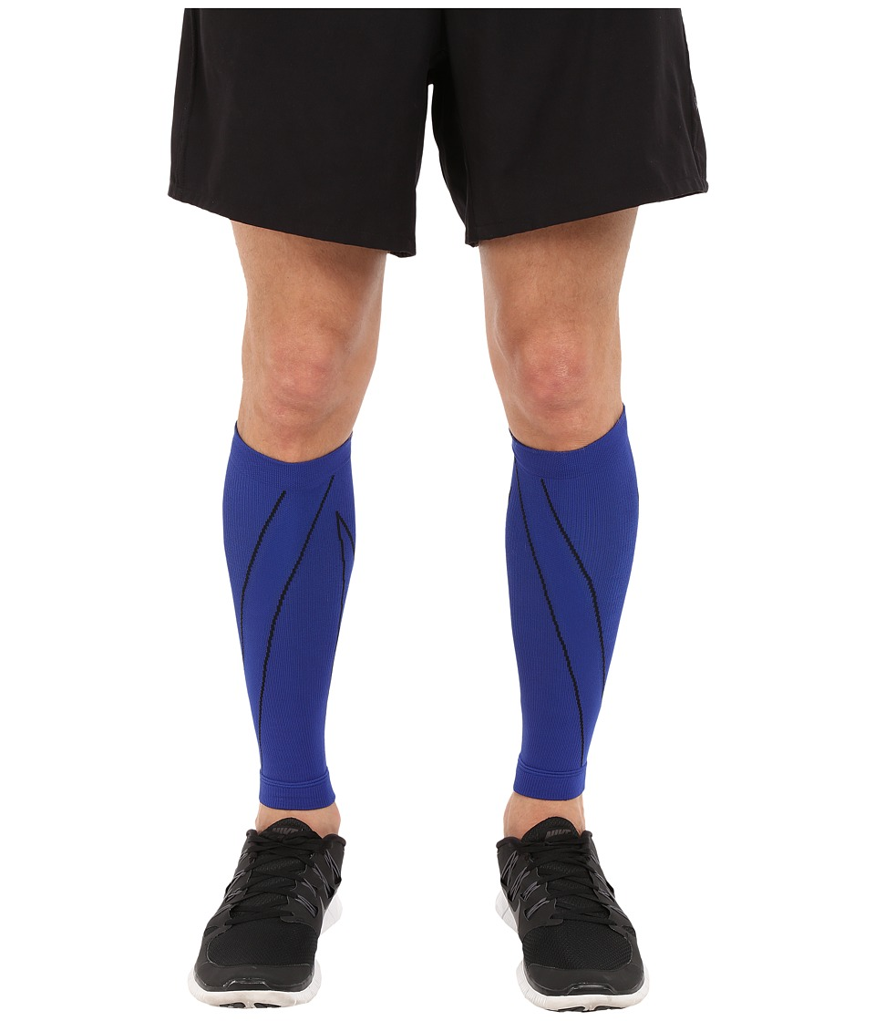 CW-X - PerformX Calf Sleeves (Blue/Black) Athletic Sports Equipment