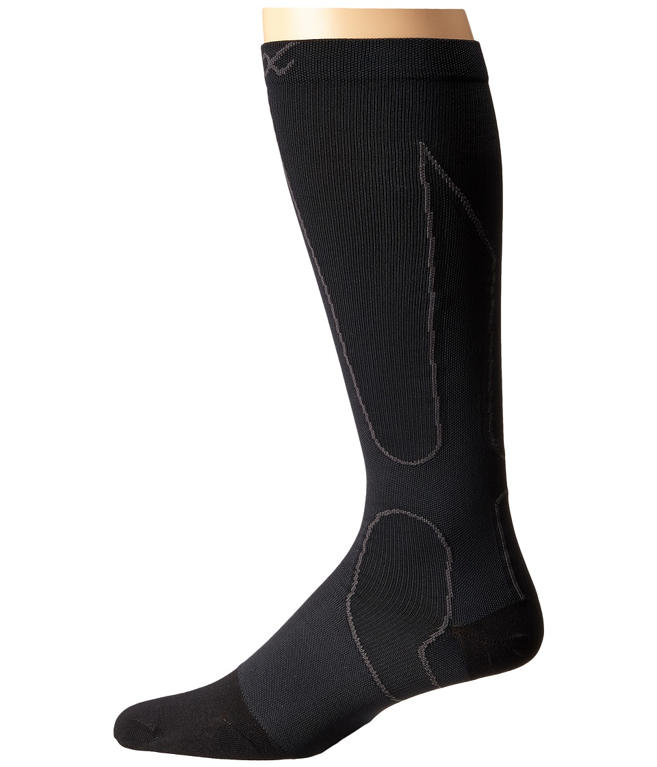 CW-X - PerformX Socks (Black/Grey) Crew Cut Socks Shoes