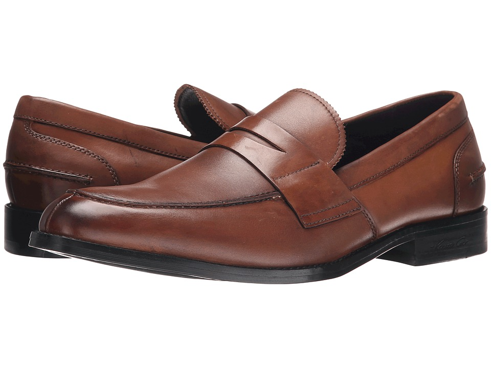Kenneth Cole New York Duke It Out Cognac Mens Slip on  Shoes