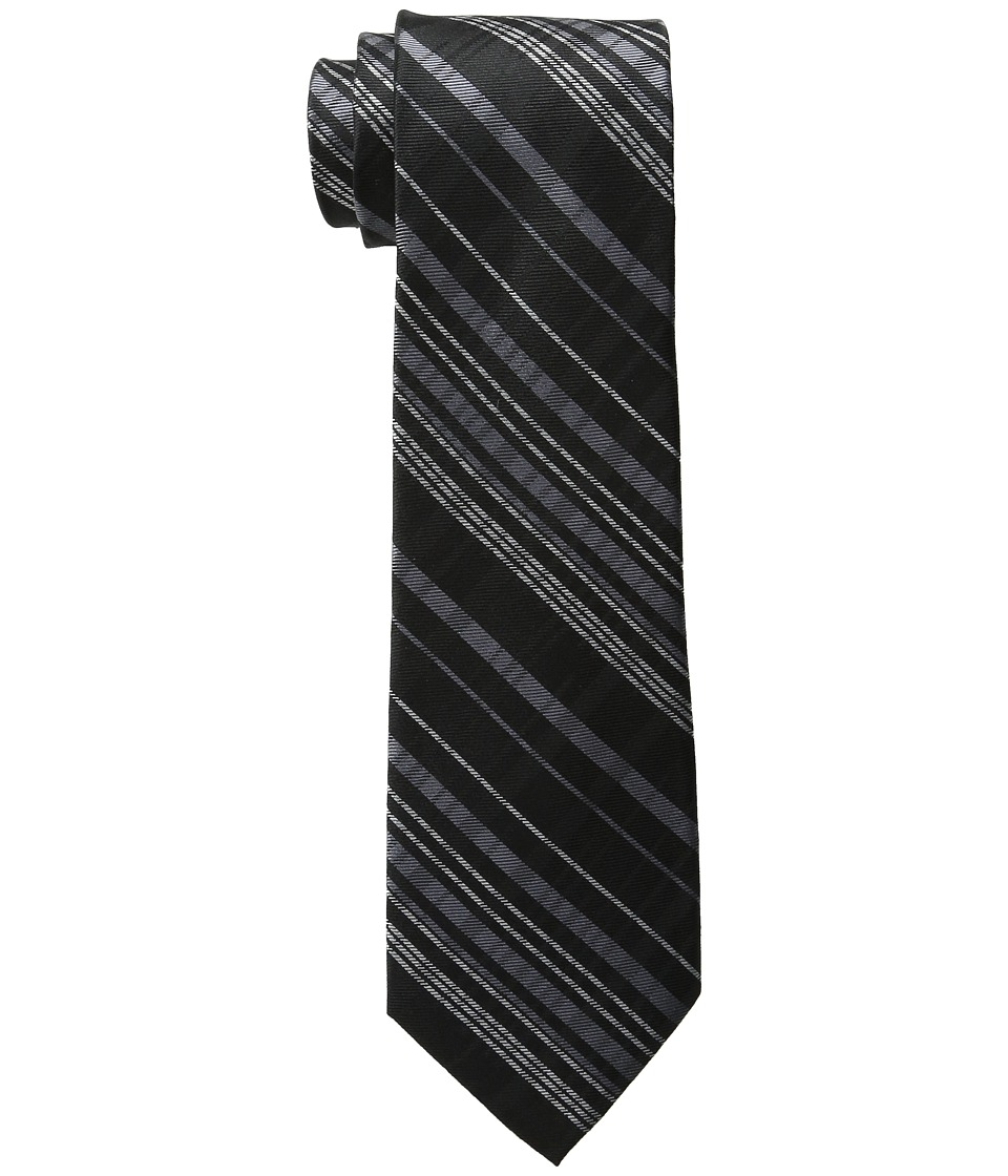 DKNY - Tonal Plaid (Black) Ties