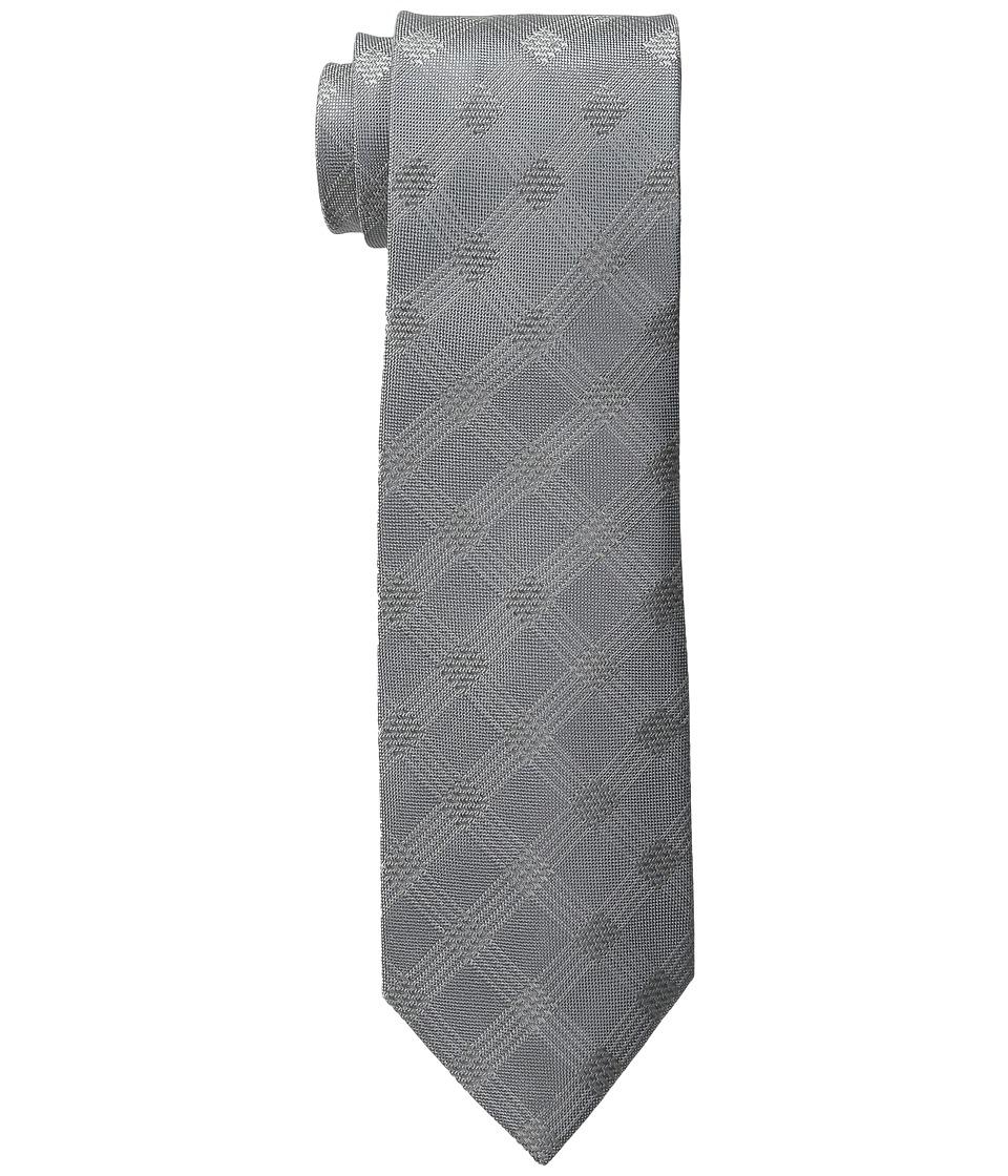 DKNY - Menswear Grid (Silver) Ties