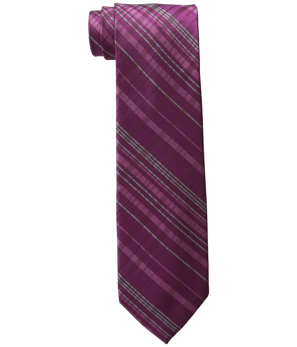 DKNY - Tonal Plaid (Wine) Ties