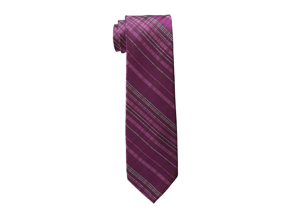 DKNY - Tonal Plaid (Amethyst) Ties