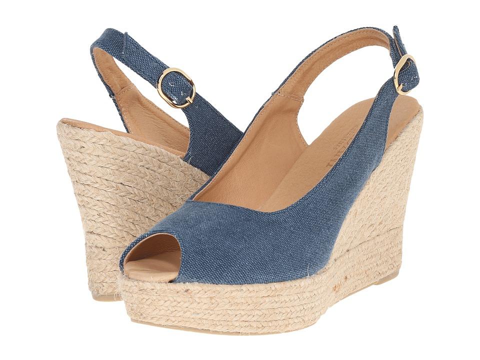 Cordani - Elixir (Denim Linen) Women's Wedge Shoes