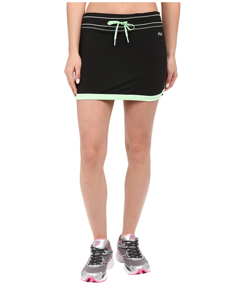 Fila - Secret Message Skort (Black/Apple Chew) Women's Skort
