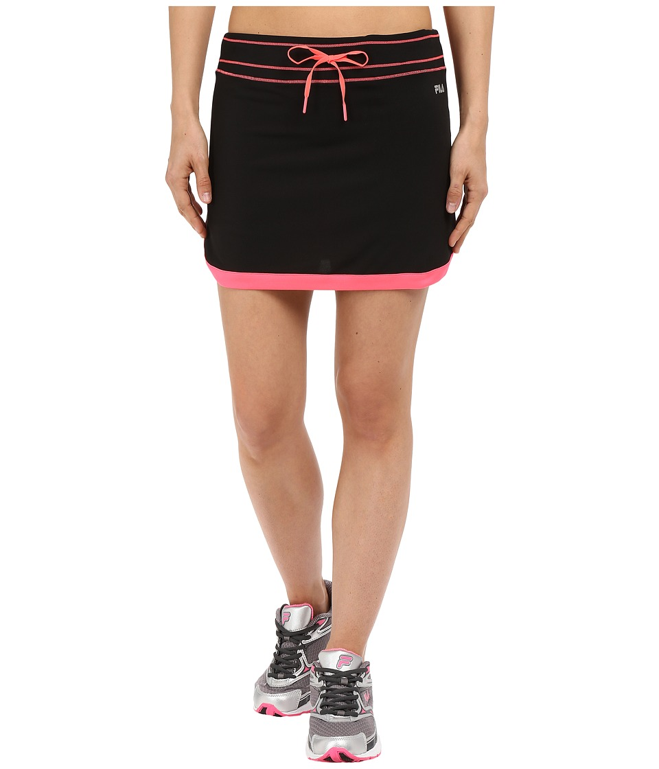 Fila - Secret Message Skort (Black/Coral Cake) Women's Skort