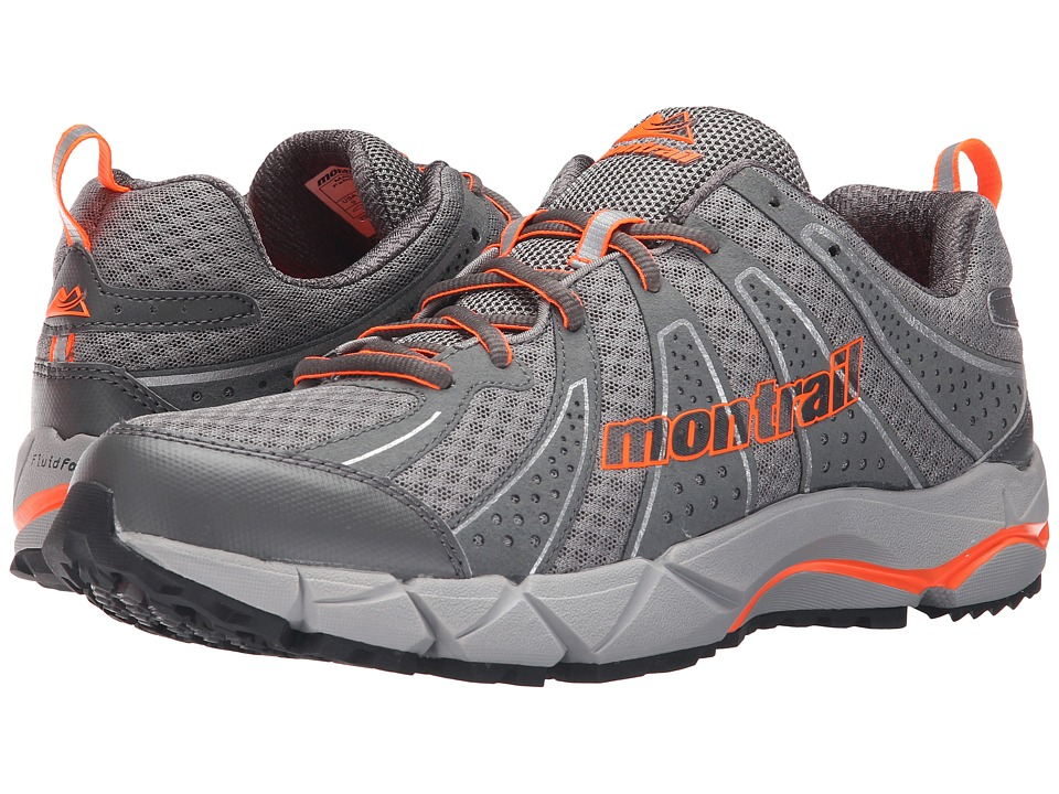 Montrail - Fluidfeel IV (Light Grey/Blaze) Men's Shoes