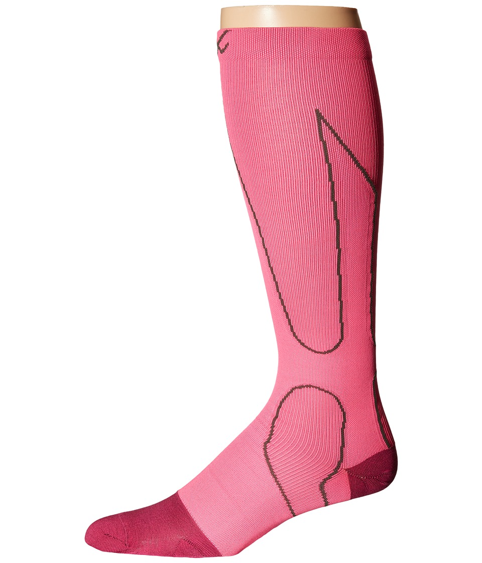CW-X - PerformX Socks (Pink/Charcoal) Crew Cut Socks Shoes