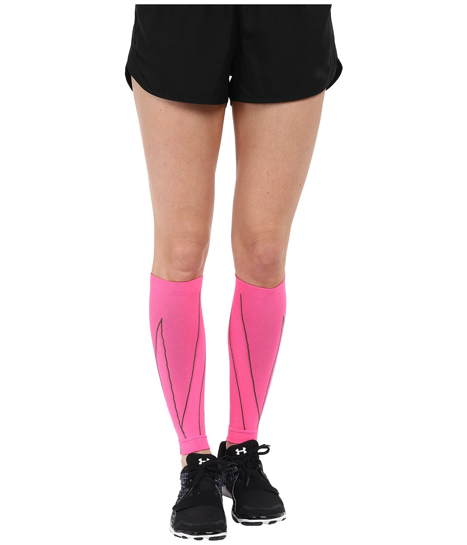 CW-X - PerformX Calf Sleeves (Pink/Charcoal) Athletic Sports Equipment