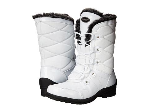 Khombu - Alexa (White Patent Combo) Women's Boots