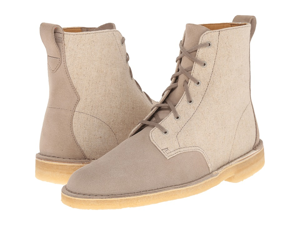 Clarks - Desert Mali Boot (Sand Suede/Canvas Combination) Men's Lace-up Boots