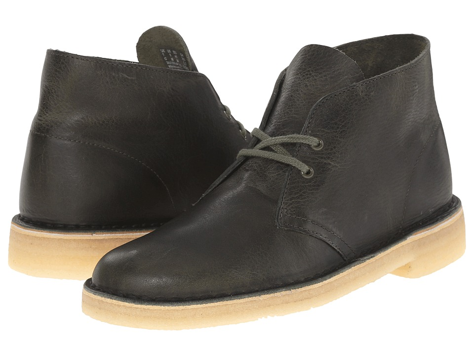 Clarks Desert Boot (Green Leather) Men
