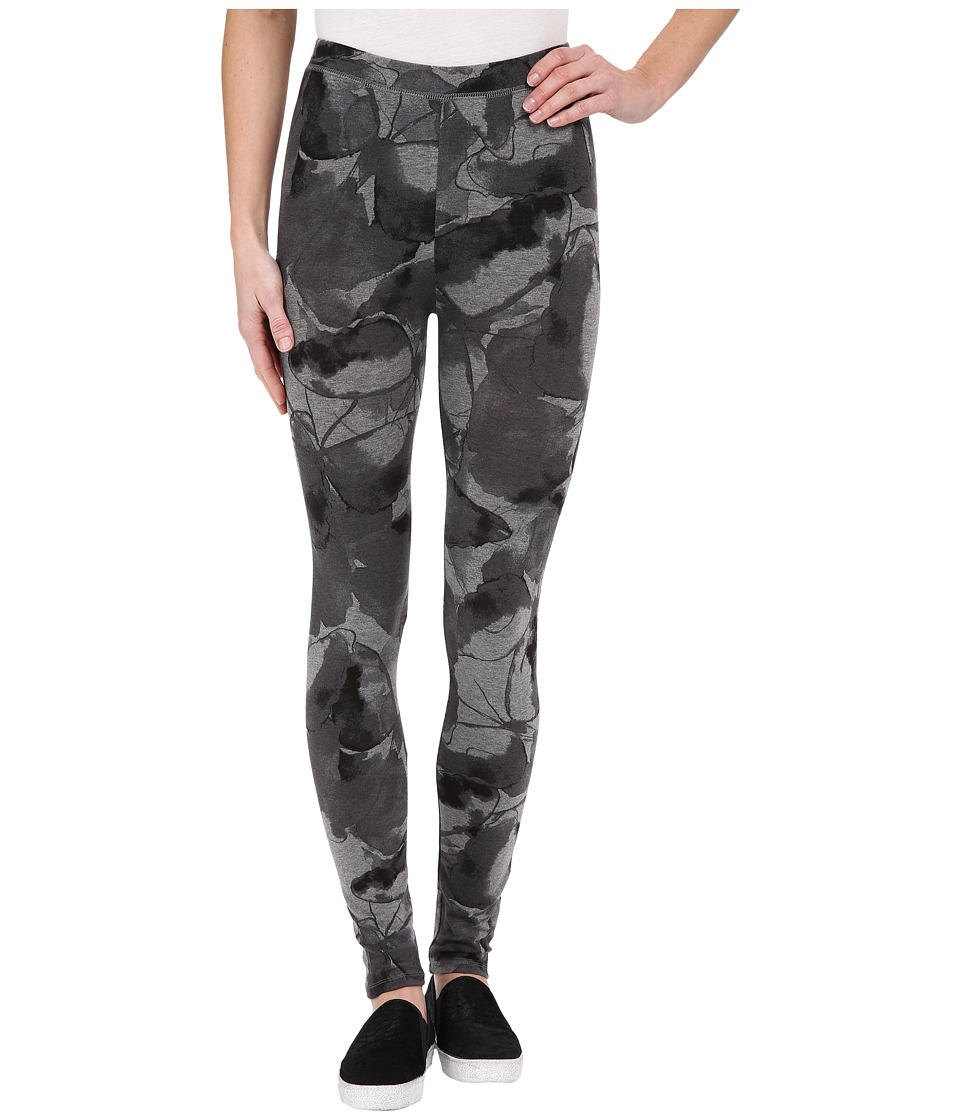 Alternative - Printed Skinny Legging (Oxford Grey Petals) Women's Casual Pants