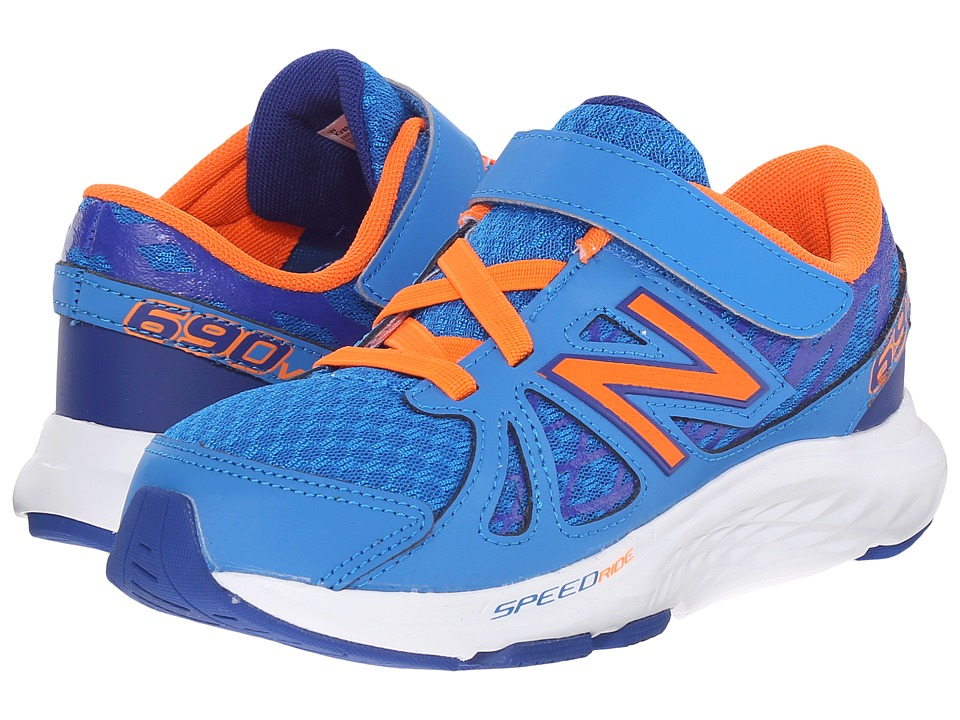 New Balance Kids - 690v4 (Little Kid) (Blue/Orange) Boys Shoes