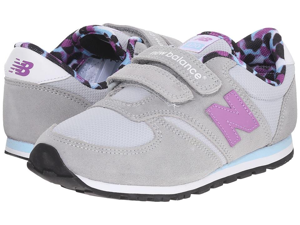 New Balance Kids - KE420 (Little Kid) (Grey/Purple) Girls Shoes