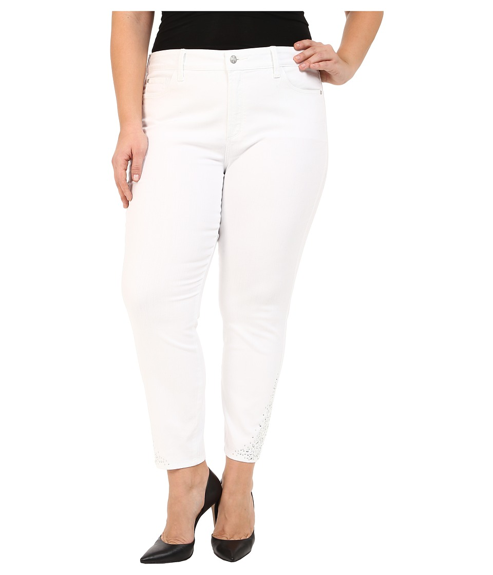 NYDJ Plus Size Plus Size Amira Fitted Ankle in Optic White (Optic White) Women