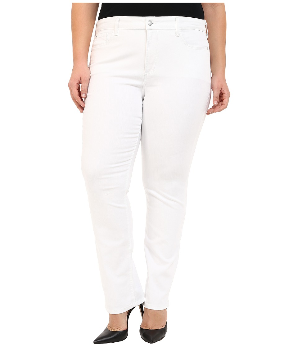NYDJ Plus Size - Plus Size Marilyn Straight in Optic White (Optic White) Women's Jeans