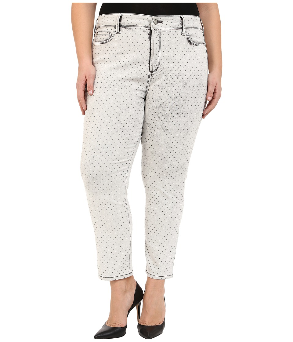 NYDJ Plus Size - Plus Size Ira Slim Ankle in Metal Polka Dot (Metal Polka Dot) Women's Jeans