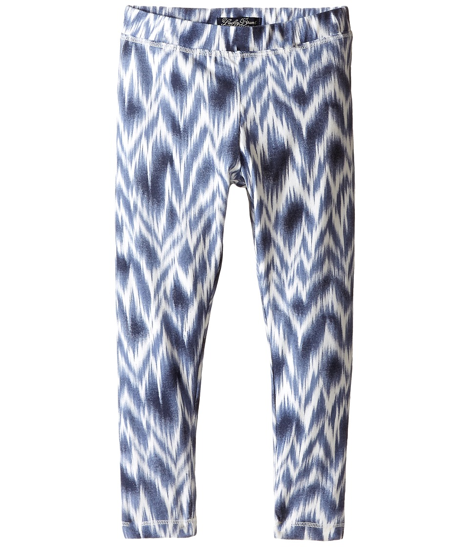 Lucky Brand Kids - Ikat Danielle Leggings (Little Kids) (Blue Indigo Heather) Girl's Casual Pants