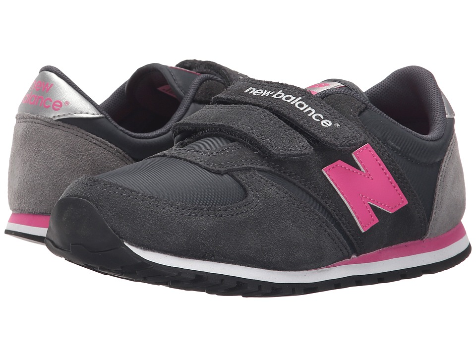 New Balance Kids - Classics 420 (Little Kid/Big Kid) (Grey/Pink 1) Girls Shoes